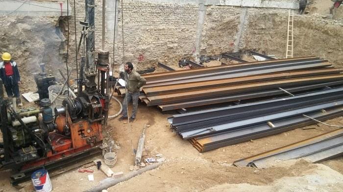 انجام پروژه آزمایش خاک در میدان کاج تهران