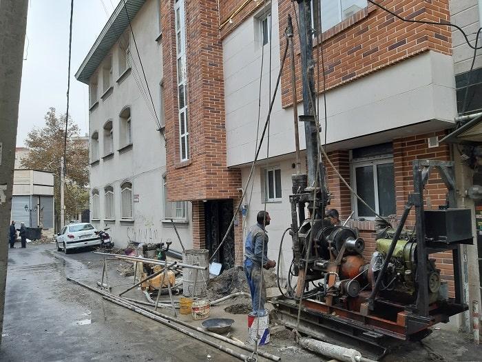 انجام پروژه آزمایش خاک ساختمان مسکونی در فرمانیه