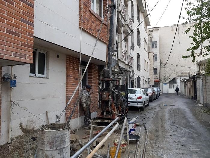 اجرای پروژه آزمایش خاک در فرمانیه تهران